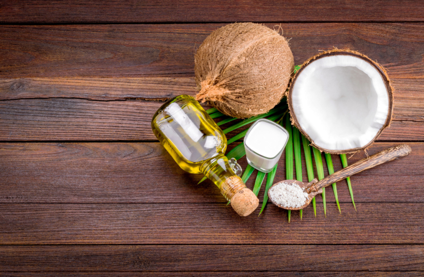 pic of coconut and coconut oil