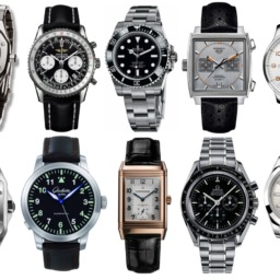 pinned images of watches on a white background