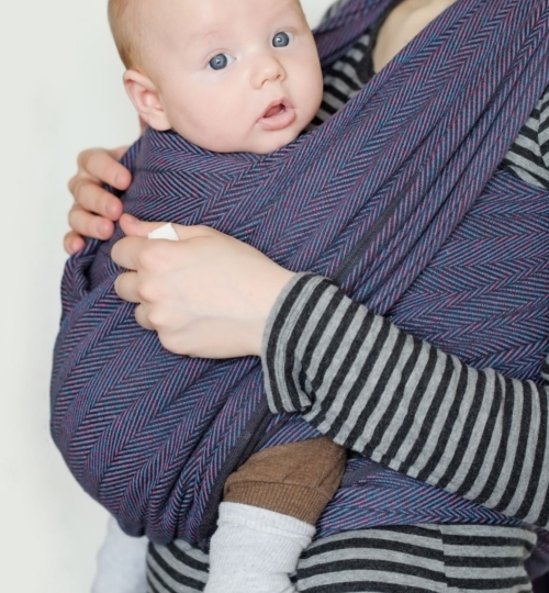 3 month old baby in sling
