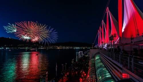 British Columbia Canada Fireworks