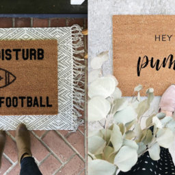 We've Fallen for these Fall Doormats | Cartageous.com/Blog